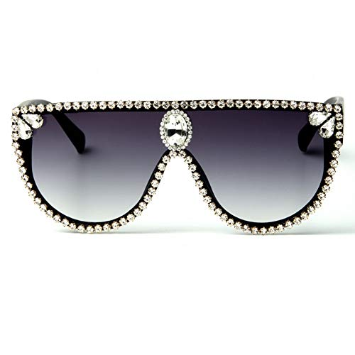 LNTYJ Sonnenbrillen Sonnenbrille Mit Verlaufsglas Strass SonnenbrilleOversized Shades Großen Rahmen