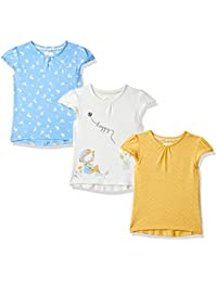 Mothercare Baby Girl's Animal Print Regular Fit T-Shirt (Pack of 3)