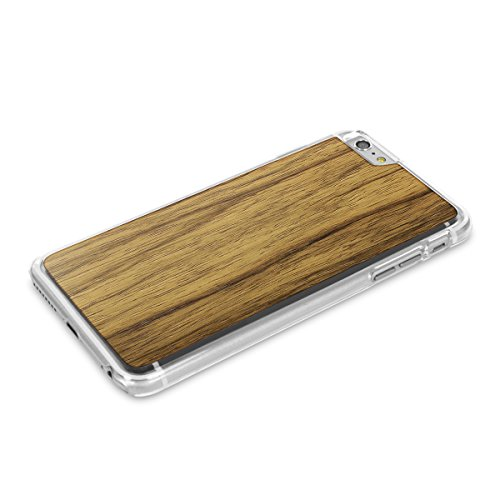 Cover-Up WoodBack Echtholz Transparent Schutzhülle für Apple iPhone 6 / 6s Plus Mahogani - Black Limba