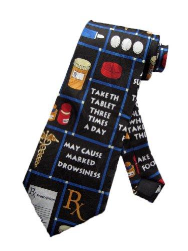 steven-harris-mens-pharmacy-pharmacist-medicine-necktie-black-one-size-neck-tie