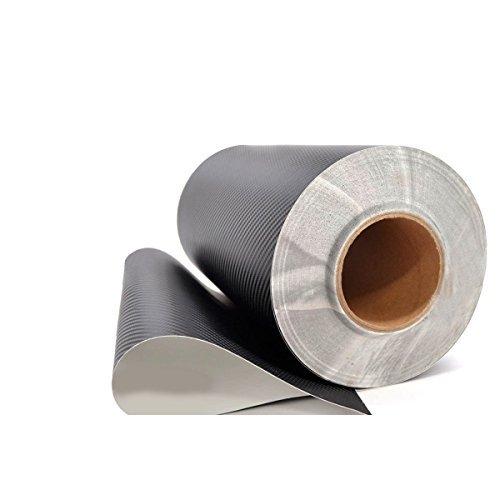 Pellicola adesiva in vinile, 3D, simil-fibra di carbonio, flessibile, per auto, 152,40 cm x 30,48 cm, di colore nero