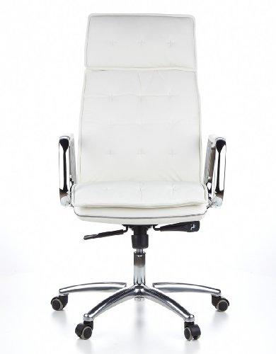HJH OFFICE 600922 Bürostuhl / Chefsessel VILLA 20 Nappaleder elfenbein - 17