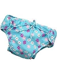 GudeHome Ajustable Bañador Pañal de Tela Reutilizable Lavable Diaper Para Bebé Pañales bañadores