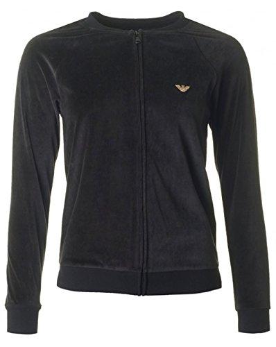 Emporio Armani Damen Long Sleeve Jacket Zip 7A252 (00020 Black, L) - Armani Kapuzen-jacke