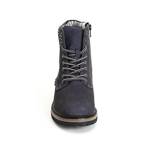 MARINA SEVAL by Scarpe&Scarpe - Chaussures avec col rembourré et fermeture éclair latérale, en Cuir Bleu