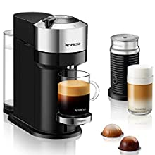Nespresso Vertuo Next Deluxe, By Magimix, Coffee Capsule Machine, Aeroccino Milk Frother, Chrome - Claim 50 coffee capsules plus 2 months' (1st & 6th) coffee subscription for free when you buy product