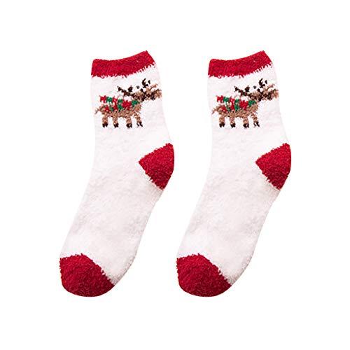 Maleya Weihnachtsschlafsocken Warme Winter-Ausgangsfrauen-Mädchen-weiche Bett-Boden-Socken-Weihnachtsschlafsocken