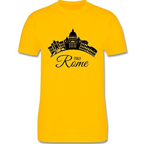 Skyline - Skyline Rome Italien Italy - Herren Premium T-Shirt Gelb