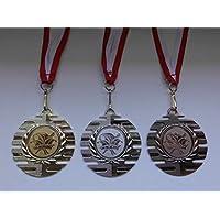 Pokale & Preise Ski Slalom Skisport Pokal Kids 100 x Medaillen Band&Emblem Turnier Pokale e277
