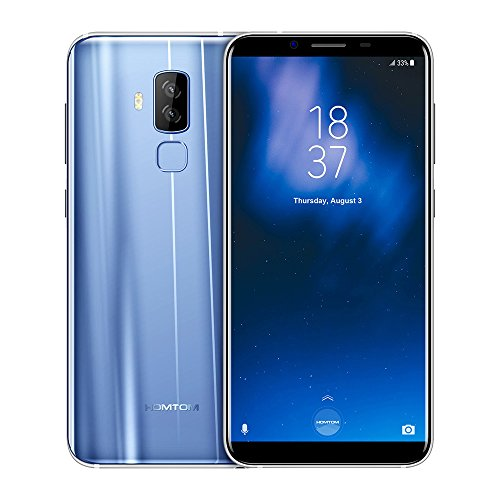 HOMTOM S8 4G Smartphone 5.7 Zoll 18:9 Verhältnis Display, Android 7.0 4GB RAM 64GB ROM Octa-Core, 16.0MP+5.0MP Dual Rear+13.0MP Front Kamera, 3400mAh Fast Charge,Band 20 Dual SIM Ohne vertrag