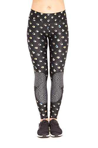 Terez Damen The Many Faces of Mickey Mouse Tall Band Leggings Kostüm-Unterteile, schwarz, X-Small (Offizielle Mickey Mouse Kostüm)