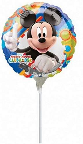 PICCOLI MONELLI Globo cumpleaños niños ratón pequeño Mikey Mouse 1 pc a Helio Grande 25cm Azul