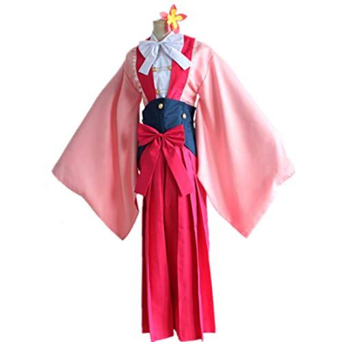 rosa Kimono Anime Cosplay Halloween Party kostüm vollen Satz,Suit-L ()