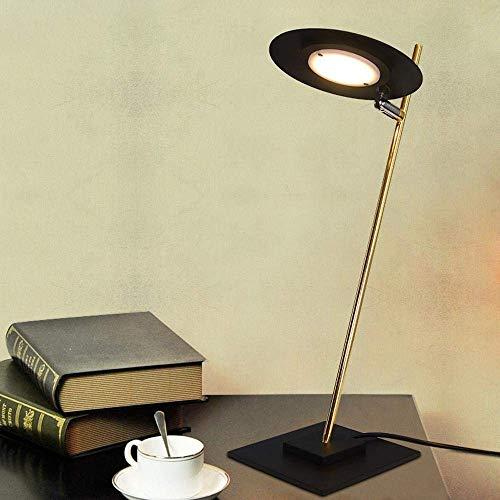 WSW Industrielle Minimalistische Modische Schreibtischlampe Flache Kreisförmige Platte Entworfen Lampenschirm & Vollmetallische Halterung Für Dekoration/Schlafzimmer/Studie/Schwarz Stilvolle EIN - Kreisförmige Lampenschirme
