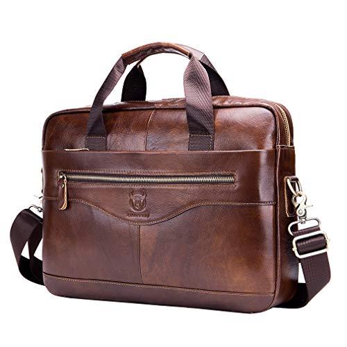 Xieben Vintage Leder Schultertasche Messenger Bag für Herren Frauen Hangbag Reisen Outdoor Business Büro Schule Fanny Pack Geldbörse Gürtel Umhängetasche Umhängetasche Braun -