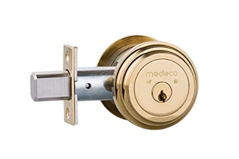Medeco Maxum Residential Deadbolt - Single Cylinder - Bright Brass