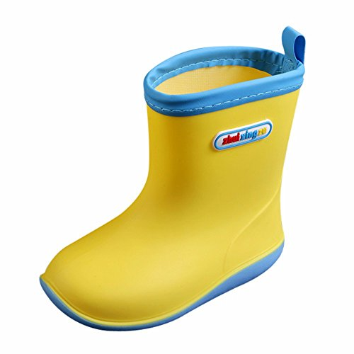 Children Waterproof Rain Shoes, Kolylong Children Soild Rubber Infant Baby Rain Boots