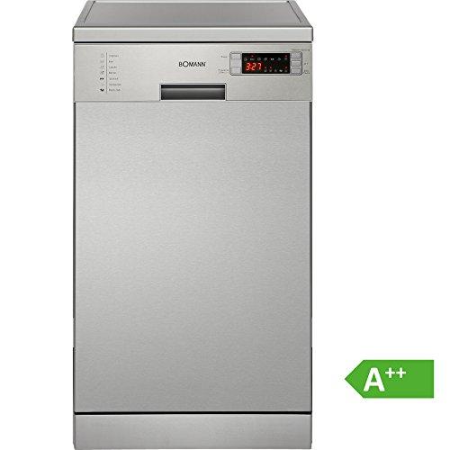 Bomann GSP 857 IX freistehender Geschirrspüler/A++/225 kWh/Jahr/45 cm/11 MGD/2380 L/jahr/elektronische...