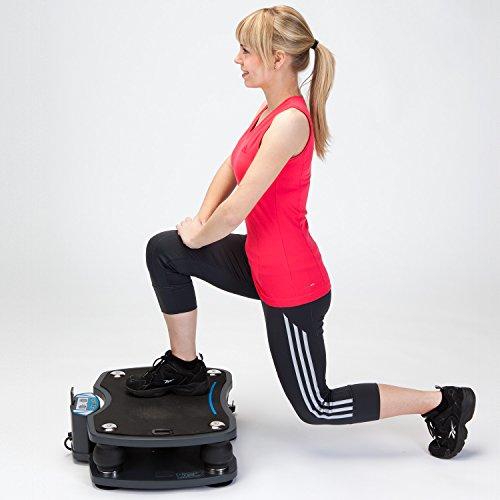 skandika Home Vibration Plate 500, Profi Vibrationsgerät, inklusive Trainingsbänder mit großer rutschsicheren Trainingsfläche, Fernbedienung und kraftvoller 3D-Vibration - 11