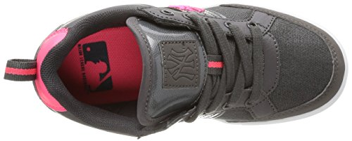 New York Yankees Sunya Low Lace, Baskets mode fille Gris (Dk Grey/Neon Fuxia)
