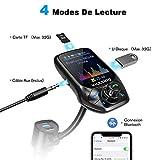 VICTSING Transmetteur FM Bluetooth Adaptateur Bluetooth Autoradio Kit Voiture Main-libre Sans Fil...