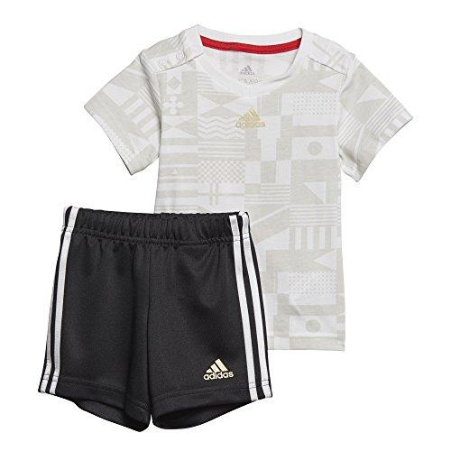 adidas Baby World Cup Set Trikot + Short, White/Grey one f17/Gold met, 98