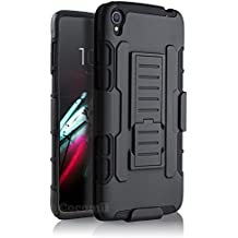 Alcatel OneTouch Idol 3 5.5in Funda, Cocomii Robot Armor NEW [Heavy Duty] Premium Belt Clip Holster Kickstand Shockproof Hard Bumper Shell [Military Defender] Full Body Dual Layer Rugged Cover Case Carcasa (Black)