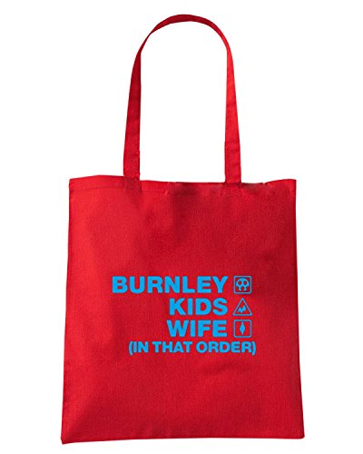 T-Shirtshock - Borsa Shopping WC1225 burnley-kids-wife-order-tshirt design Rosso