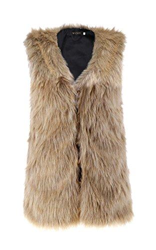 Mode für Frauen Damen Winter Warm Faux Pelz Weste Jacke Mäntel Trendy Weste (Mantel Jacke Kaninchen Pelz Damen)