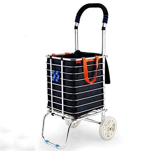Wpcbaa addensare il copri-seggiolino per pc pieghevole con carrello per freni in alluminio robusto carrello piccolo (colore : a)