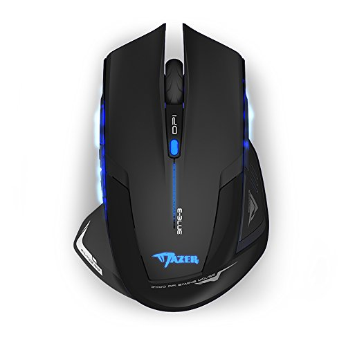 E-Blue Mazer 2500 DPI Blue LED 2.4GHz Wireless Optical Gaming Mouse – EMS152 41koWq0qQsL