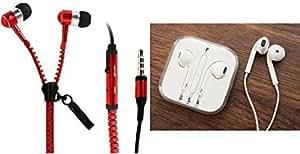MIRZA Zipper Earphones & Apple Earphones for SONY xperia z1 compact(Zipper Earphones||With MIC||Zipper Earphones & Apple Earphones)
