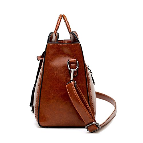 Frauen Elegante Tote Schultertasche Aus Weichem Leder Große Messenger Bags Für Frauen Urlaub Einkaufstaschen Weekend Satchel Black