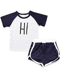 Conjuntos Bebe Recien Nacido, Zolimx Niños Pequeños Bebés Varones Niñas Número Letra Impresión Camiseta Tops +…