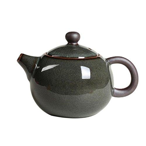 GAOJIAN Xi Shi Topf Crackle Glasur Ge Ofen Longquan Celadon Zisha Keramik Kunst Teekanne Porzellan Ton antike Teekanne - Crackle Glas Antik