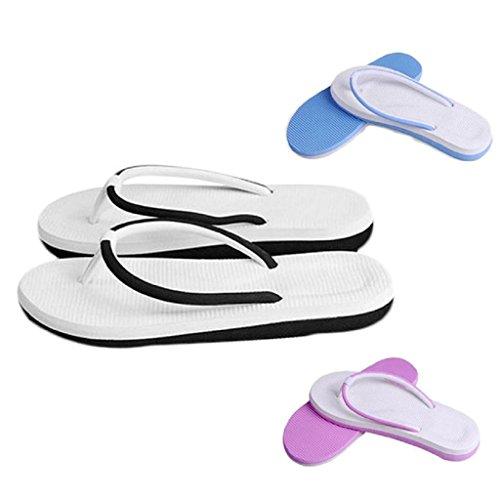 Vovotrade Simple Flip-flop est Amoureux Pantoufles Hommes et Femmes Sandales de Plage été Maison Pantoufles Rose