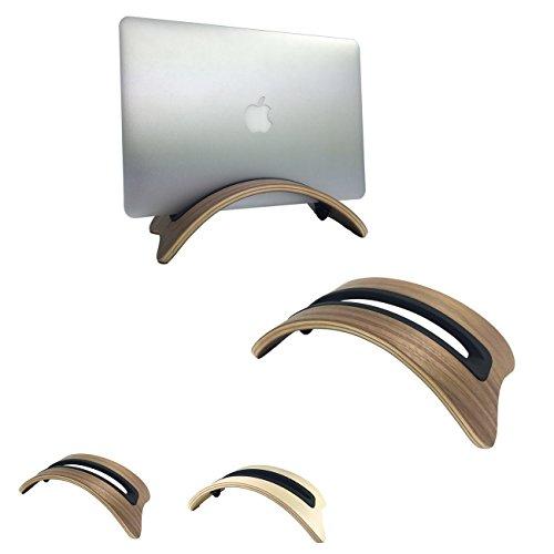 Sumgar®Única elegancia elegante respetuoso del medio ambiente Natural madera escritorio Stand artesanal soporte para computadora Apple Macbook Pro/Air iPad (walnut)