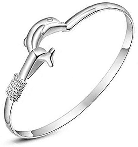 SaySure - 925 sterling silver jewelry bracelet women love Silver Dolphin