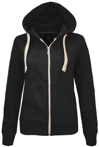 CEXI COUTURE Damen Kapuzen Sweatshirt Kapuzenpullover mit Reißverschluss Fleece Jacke - Schwarz, EU 48 - Couture Blazer