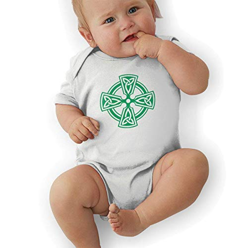 fdgjydjsh Celtic Cross Knot Irish Shield Warrior Funny Baby Onesies Novelty Toddler Infant Bodysuits Short Sleeve White 2T Irish Infant Bodysuit