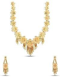 Kalyani Covering Gold Brass Swaga Long Necklace Set For Women & Girls. - B0786BXB56