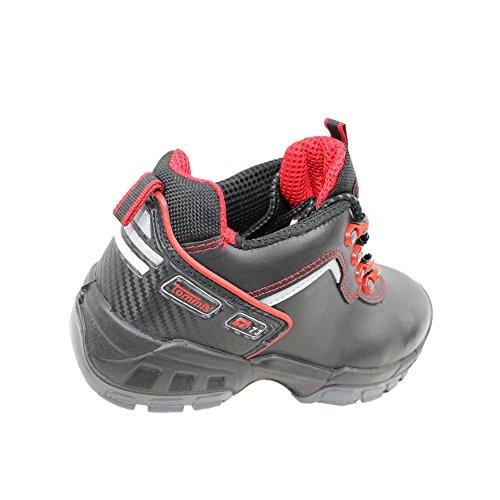 Tommis quickborn s2 sRC chaussures de travail chaussures chaussures berufsschuhe businessschuhe plat noir Noir - Noir