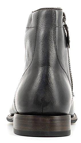 Gordon & Bros Steve S160985 GL Stylischer, Eleganter Herren Leder Schnürstiefel mit Seitlichem Reißverschluss, Used Look, Leder/Gummisohle in Blake Rapid Machart Grey
