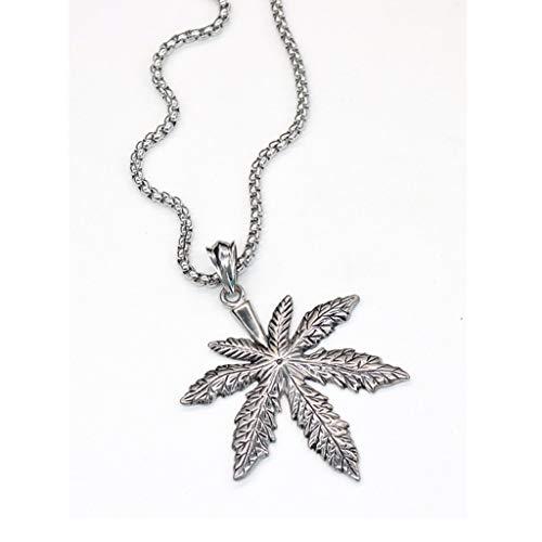 DIAOSI Botanische Blumenmuster Halskette, Titan Stahl Anhänger Europa und Amerika Hip Hop Persönlichkeit Street Dance Retro Lange Pullover Kette Anhänger Dekoration: -