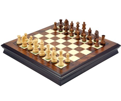Der Premier Sheesham und Nussbaum Luxus Schachspiel