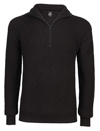 Brandit Marine Pullover Troyer - Schwarz - Größe 5XL/64