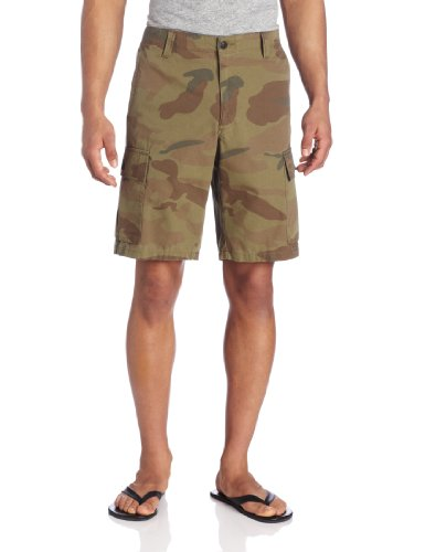 Dockers Men's Cargo Flat-Front Short, Pantego/True Olive - Discontinued, 32W (Shorts Flat Dockers Front)