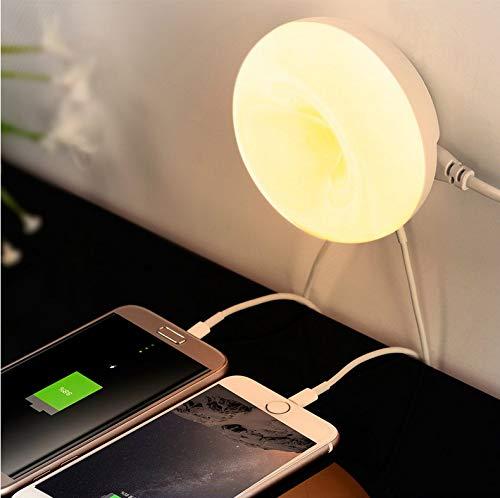Lichtsensor Wand Nachtlicht Mit Desktop Usb Ladegerät 2 Ports Ac 100-220 V Us/Eu Stecker Warmes Licht Wandleuchte Für Schlafzimmer -