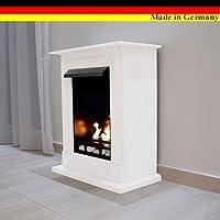 Gel + Ethanol Fireplace - Caminetto Madrid Deluxe con bruciatore regolabile in acciaio inox, in 9 colori diversi Bianco