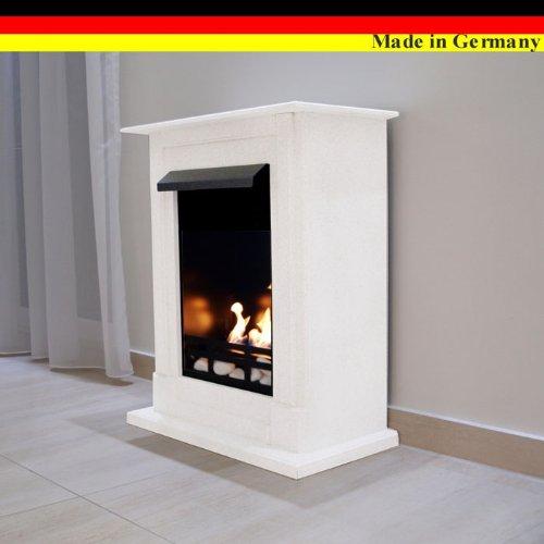 Ethanol und Gelkamin Modell Madrid Premium - Gratis zum Kamin das komplette Zubehör - Wählen Sie aus 10 Farben (Weiss)